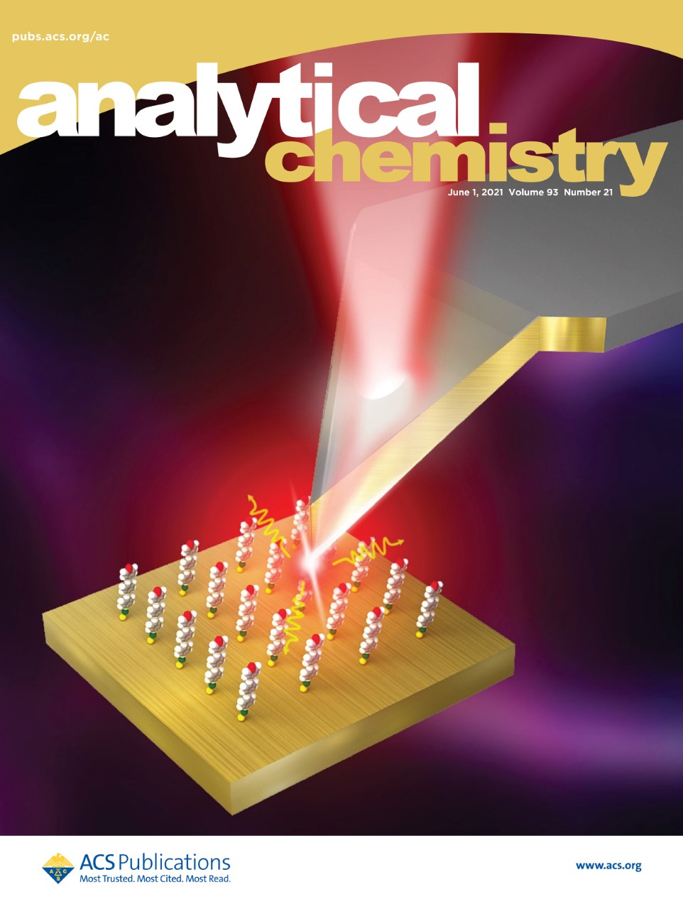 Analytical. Chemistryに論文が掲載され、Supplementary Coverとして選出されました。(題目:Low-Background Tip-Enhanced Raman Spectroscopy Enabled by a Plasmon Thin-Film Waveguide Probe)